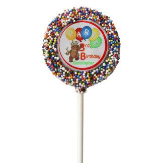 Royal Teddy Bear 3rd Birthday Party Chocolate Dipped Oreo Pop