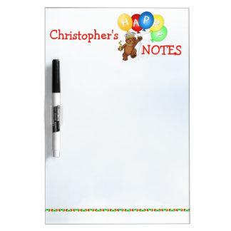 Royal Teddy Bear Happy Notes Dry-Erase Board