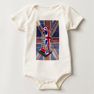 Royal telephone box baby bodysuit