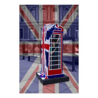 Royal telephone box poster