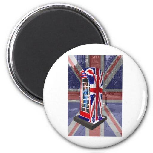 Royal telephone box refrigerator magnets
