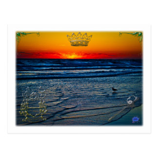 Royal Tequila Sunrise Over Atlantic Daytona Bch Postcard