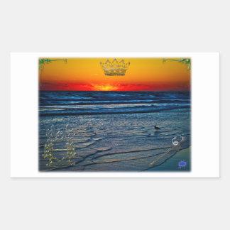 Royal Tequila Sunrise Over Atlantic & Daytona Bch Rectangular Sticker