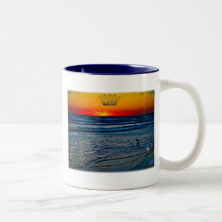 Royal Tequila Sunrise Over Atlantic & Daytona Bch Two-Tone Coffee Mug