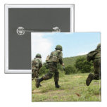 Royal Thai Marines rush forward to secure the s 2 Inch Square Button