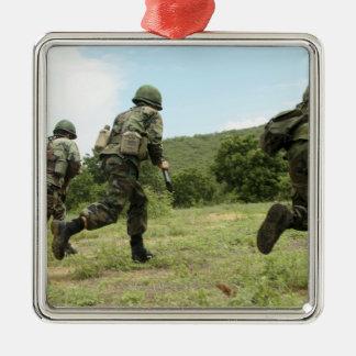 Royal Thai Marines rush forward to secure the s Metal Ornament