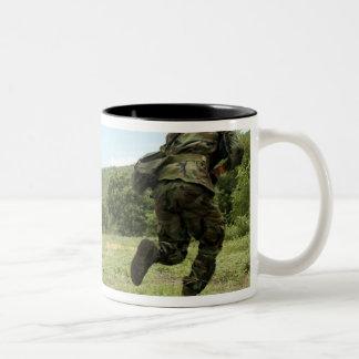 Royal Thai Marines rush forward to secure the s Two-Tone Coffee Mug