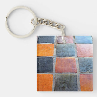 Royal Tiles Double-Sided Square Acrylic Keychain