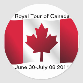 Royal Tour of Canada Classic Round Sticker