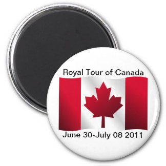 Royal Tour of Canada Refrigerator Magnets