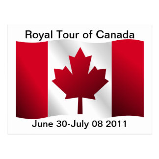 Royal Tour of Canada Postcard