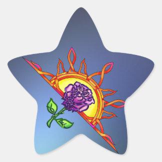 Royal Tudor's Sunrise Star Sticker