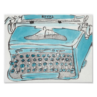 Royal typewriter print