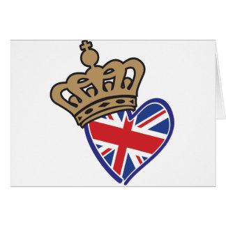 Royal UK Love Greeting Card