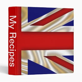 Royal Union Flag - Great Britain 3 Ring Binder