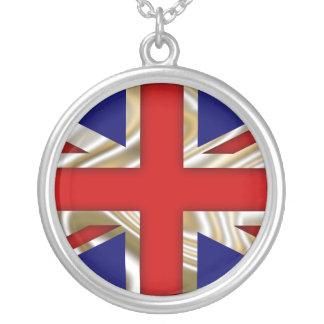 Royal Union Flag - Great Britain Round Pendant Necklace
