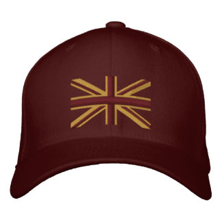 Royal Union Jack Flag England Swag Embroidery Embroidered Baseball Hat