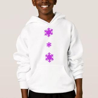 Royal Violet Triple Snowflake Hoodie