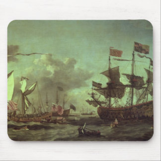 Royal Visit to the Fleet, 5th June 1672 Mouse Pad