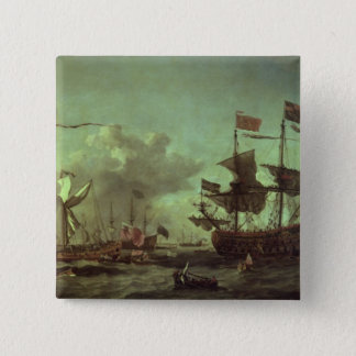 Royal Visit to the Fleet, 5th June 1672 Pinback Button