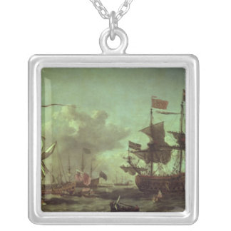 Royal Visit to the Fleet, 5th June 1672 Silver Plated Necklace