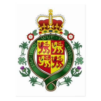 Royal Wales Official Coat Of Arms Heraldry Symbol Post Cards