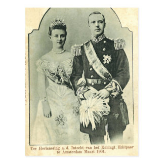 Royal wedding 1901 The Netherlands #015NL Post Card