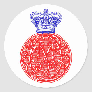 Royal Wedding 2011- Kate Middleton Cypher! Classic Round Sticker