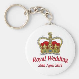 Royal Wedding 29th April 2011 Basic Round Button Keychain