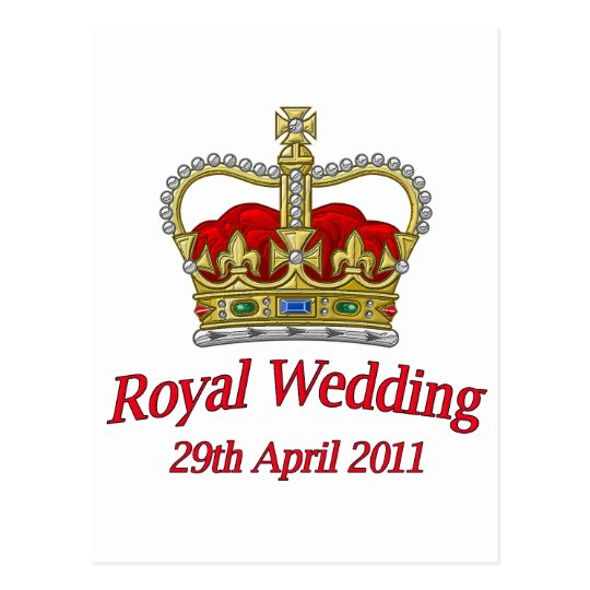 Royal Wedding 29th April 2011 Postcard