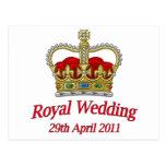 Royal Wedding 29th April 2011 Postcards