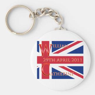 Royal Wedding Basic Round Button Keychain