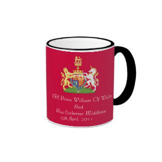 Royal Wedding Coat Of Arms Commemorati Mug (Red)