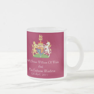 Royal Wedding Coat Of Arms Frosted Gift Mug