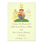 "Royal Wedding Coat Of Arms Invitation 5"" X 7"" Invitation Card"
