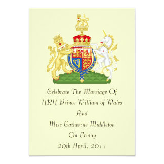 Royal Wedding Coat Of Arms Invitation