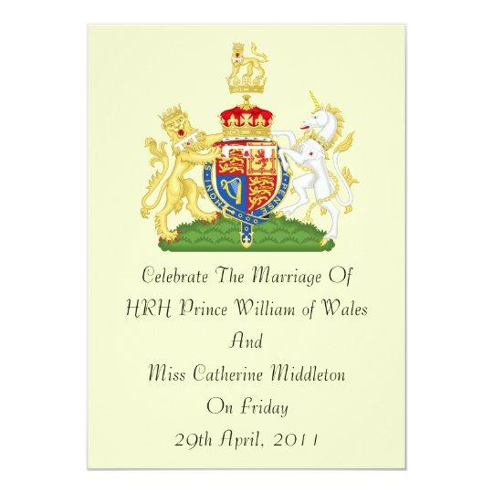 Royal Wedding Coat Of Arms Invitation