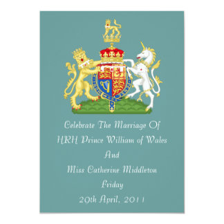 Royal Wedding Coat Of Arms Invitation (Mod Teal)