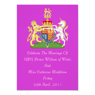 Royal Wedding Coat Of Arms Invitation (Orchid)