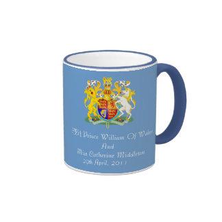 Royal Wedding Coat Of Arms Keepsake Mug (Blue)