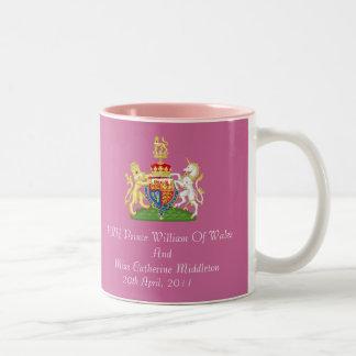 Royal Wedding Coat Of Arms Keepsake Mug (Pink)