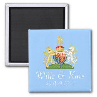 Royal Wedding Coat of Arms Magnet (Blue)
