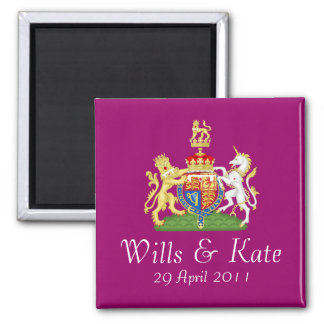 Royal Wedding Coat of Arms Magnet (Plum)