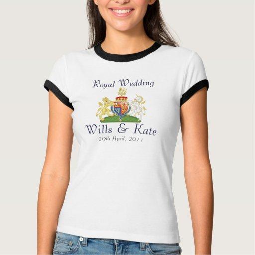 Royal Wedding Coat Of Arms Ringer T-Shirt