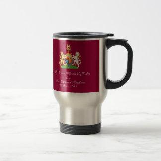Royal Wedding Coat Of Arms Travel Mug (Biurgundy)