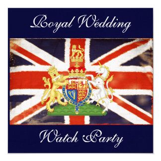 Royal Wedding Coat of Arms Watch Party Invitation