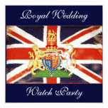 "Royal Wedding Coat of Arms Watch Party Invite 5.25"" Square Invitation Card"