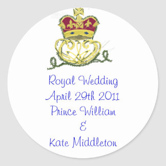 Royal Wedding Commemorative Classic Round Sticker