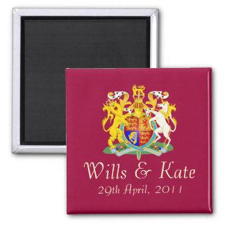 Royal Wedding Commemorative Magnet (Burgundy)