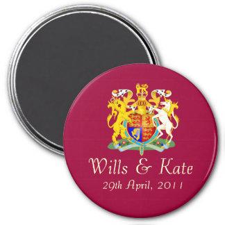 Royal Wedding Commemorative Magnet (Round)